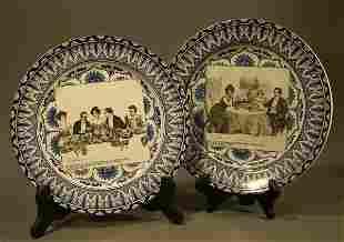 "006: Pair of Royal Doulton ""Gibson Girl"" 10"" plates."
