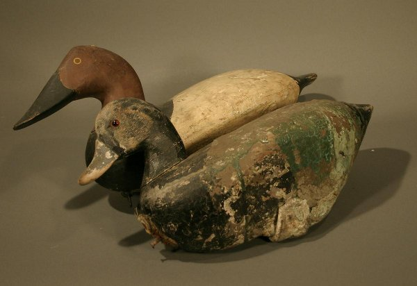 008: Four  Wooden Duck Decoys