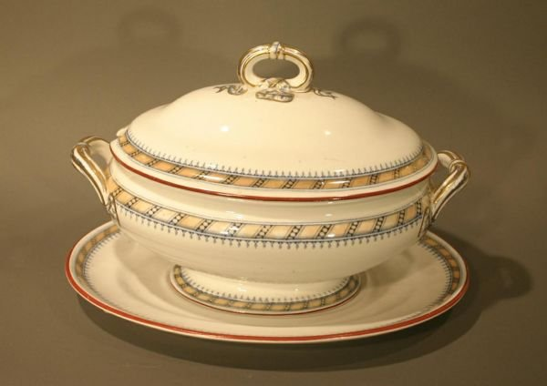 """010: Collection of Minton """"Pearl Ribbon"""" China"""