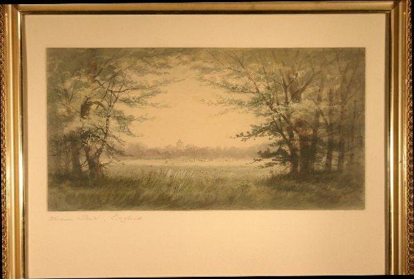 017: Parsons, P. Watercolor scene of Windsor Park Engla