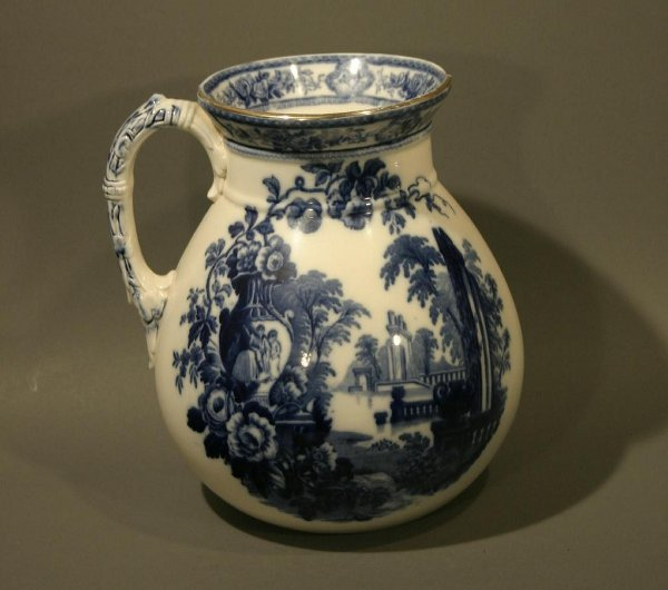 """021: Ironstone """"Parma"""" water pitcher and wash basin."""