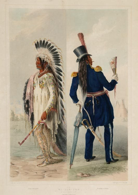 1008: Catlin, George (after). Wi-Jun-Jon. Lithograph