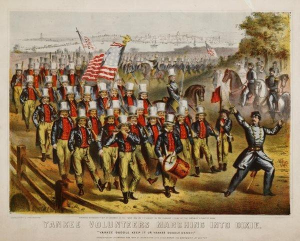 1011: Civil War Yankee Volunteers Marching Into Dixie