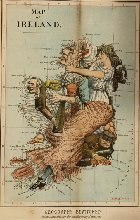 1015: Ireland England Maps Geography Bewitched