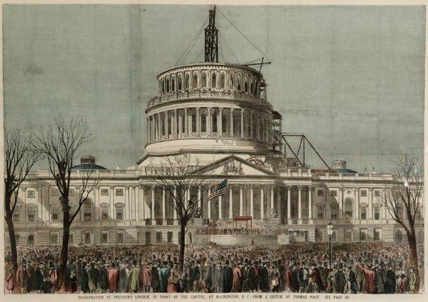 1016: Lincoln Inaugural Capitol Washington DC Nast
