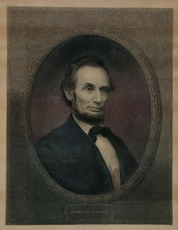 1017: Lincoln Engraving (after) Marshall