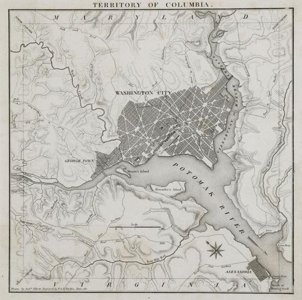 1018: Tardieu Map Of Washington DC 1815