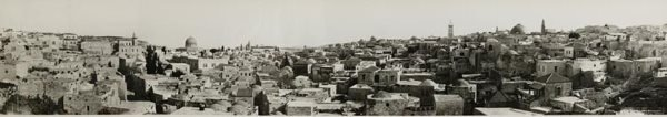 1021: Middle East Panoramic View Of Jerusalem