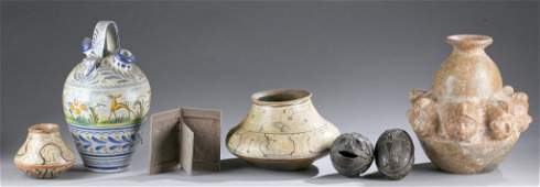 Group of 7 ethnographic objects, 20th c.