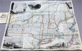 Smith's Rail Road, Steam Boat & Stage Route Map...