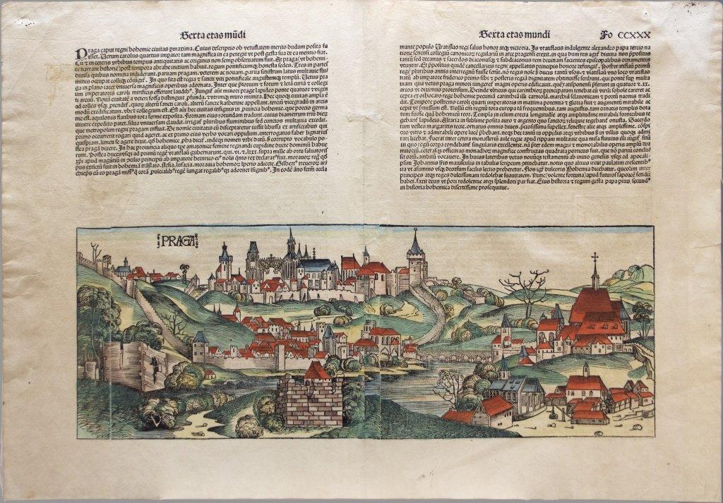 [Prague] Woodcut: Nuremberg Chronicle [1493].