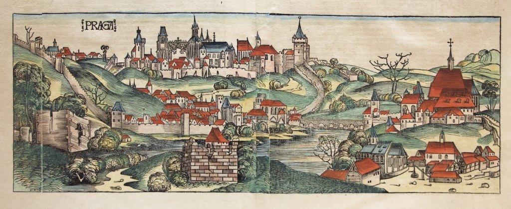 [Prague] Woodcut: Nuremberg Chronicle [1493]. - 2