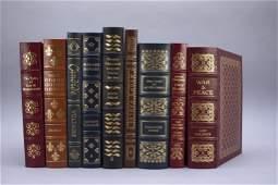 9 Easton Press: Aesop, Tolstoy, Chekhov, Verne...