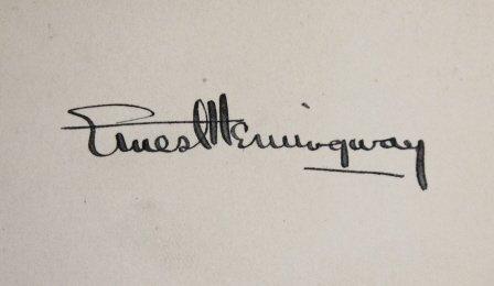 Signed: Hemingway. GREEN HILLS OF AFRICA. 1st ed. - 3