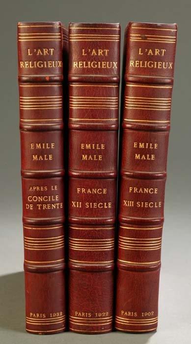 1: [Art]. Male, Emile. L'Art Religieux. 3 Vols [Du XII