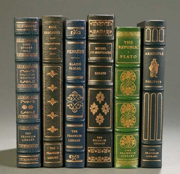 22: [Franklin Library]. 6 Titles Philosophy. Franklin C