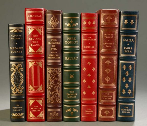 24: [Franklin Library]. 7 Titles French Literature. Fra