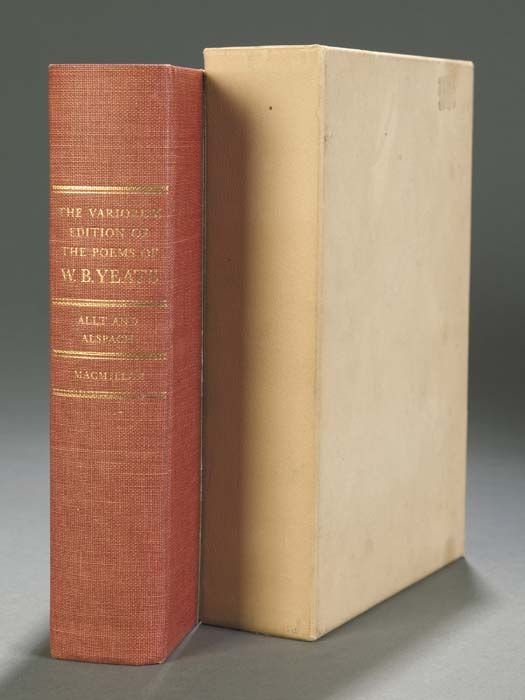 238: Yeats, W[illiam] B[utler]. The Variorum Edition Of