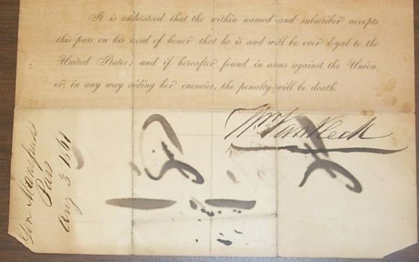 245: [Americana/Civil War]. Collection Of 6 Documents A
