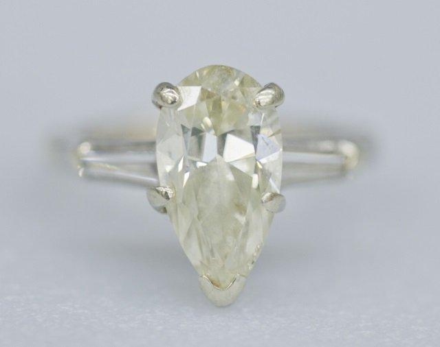 3.33 pear shaped diamond engagement ring.