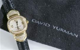 David Yurman 18k gold and diamond capri watch