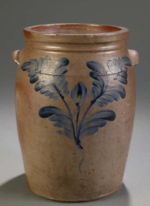 1008: 1 1/2-gallon stoneware jar made by the pottery of