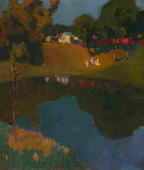 1354: Olesen, Olaf (American, b. 1873), landscape with