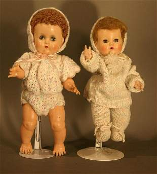 """Two ideal Tiny Tears, good condition. 11.5"""" and 1"""