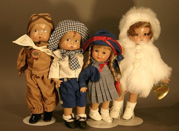 610: Four Effanbee Plastic dolls.  Including Patricia-k