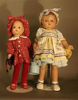 Two Effanbee Patsy Dolls, Patsy Ann, plastic comp