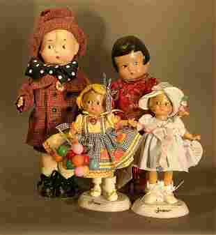 4 Effanbee Reproduction Patsy Dolls, including Chi