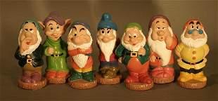 Hard Rubber Seven Dwarfs.
