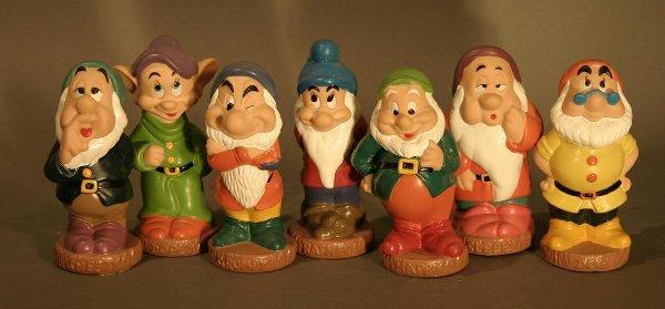 623: Hard Rubber Seven Dwarfs.