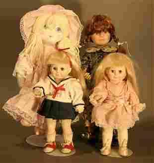 Four Dolls: Pair of Porcelain Jesco Katy Dolls, 8.