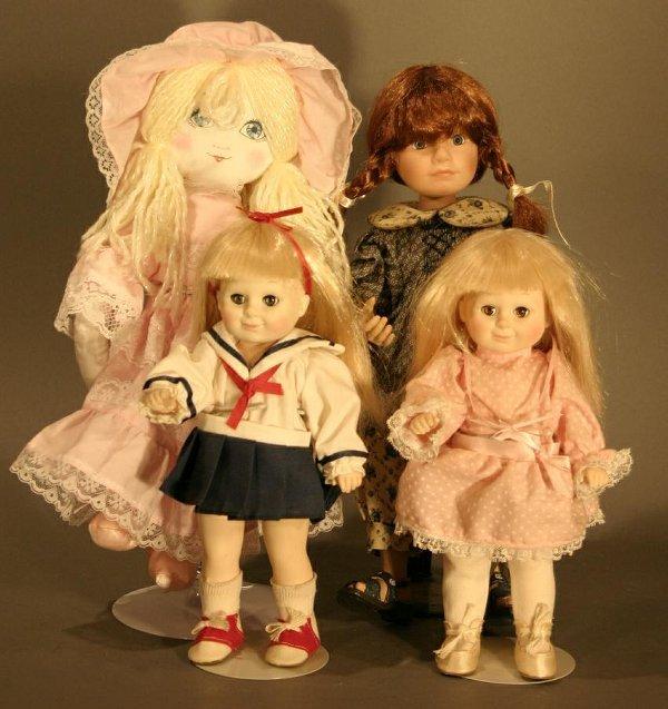 624: Four Dolls: Pair of Porcelain Jesco Katy Dolls, 8.