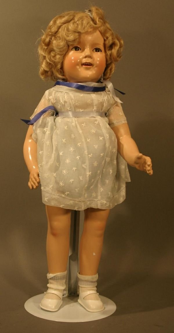 """708: 1930's Era Ideal Shirley Temple Doll.  Marked """"Shi"""