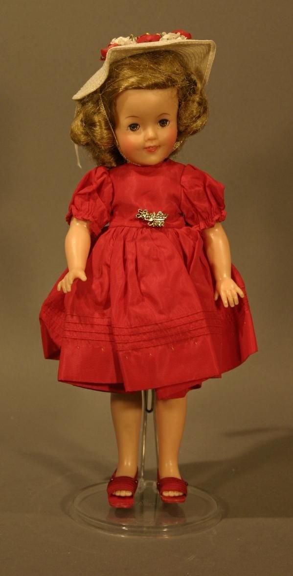 709: 1957 Ideal Shirley Temple Doll Marked St//12.  All