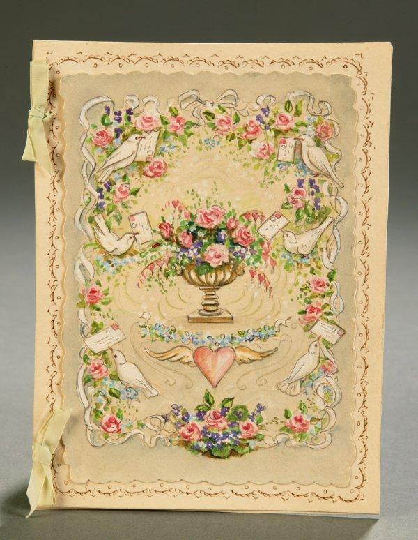 2219: Tudor, Tasha. Handmade Valentine. Watercolor on p