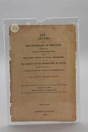 2 Short Works: Us Slave Importation & Trade, 1819
