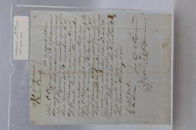 2 Handwritten Documents Re: Freedwoman & Slave