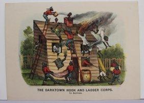 2 Currier & Ives: The Darktown Fire Brigade.