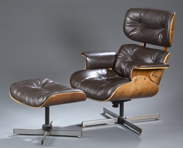 Selig chair and ottoman - Selig Eames Style Lounge Chair Ottoman