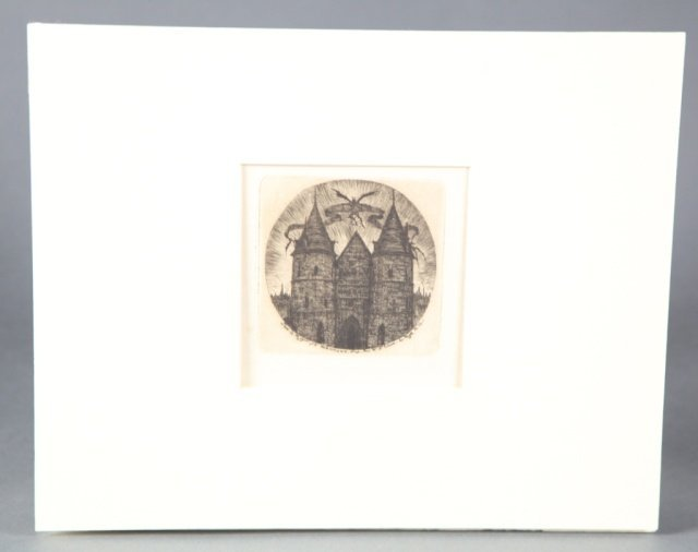 Etching/drypoint by Charles Meryon France.