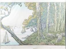 Henri Riviere lithograph France18451951