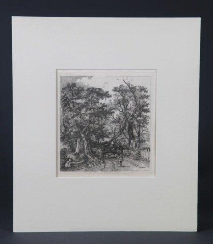 Group of 4 etchings John Crome (Britain,1768-1821)
