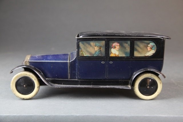 Crawford figural Rolls Royce limo biscuit tin.