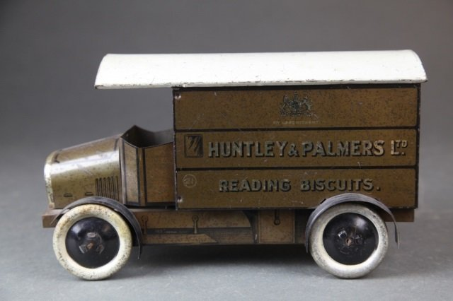 Huntley & Palmers delivery truck biscuit tin.