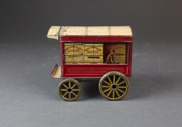 Gray, Dunn & Co. figural Biscuit Tin Motor Truck.