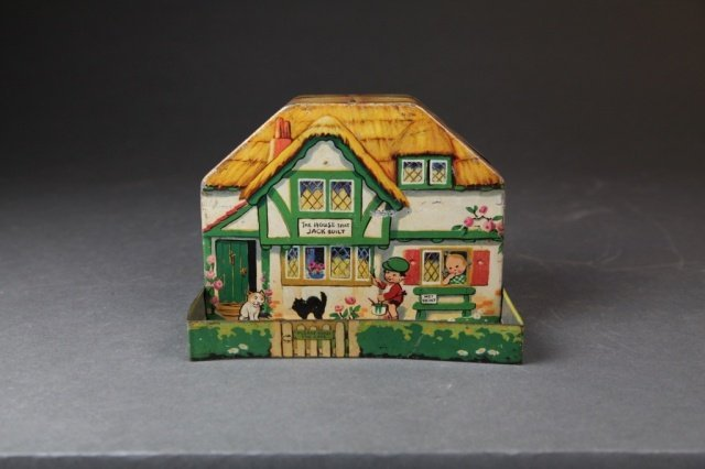 Macfarlane Mabel Lucie Atwell figural biscuit tin.