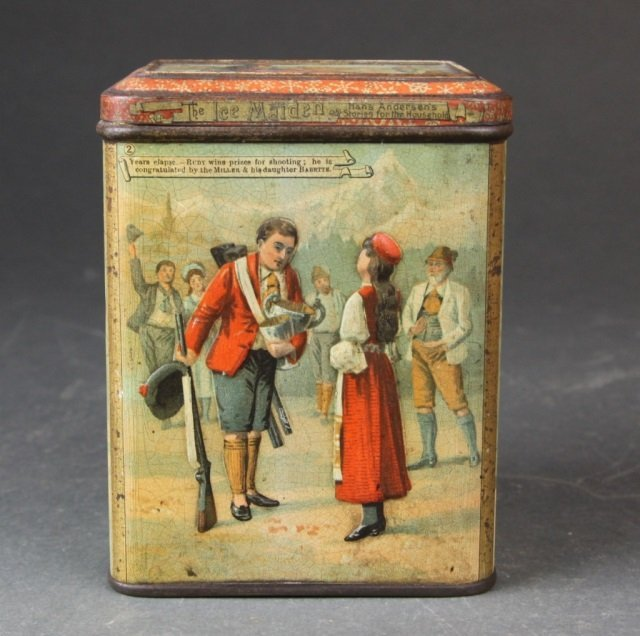 "Carr & Co. ""The Ice Maiden"" biscuit tin."